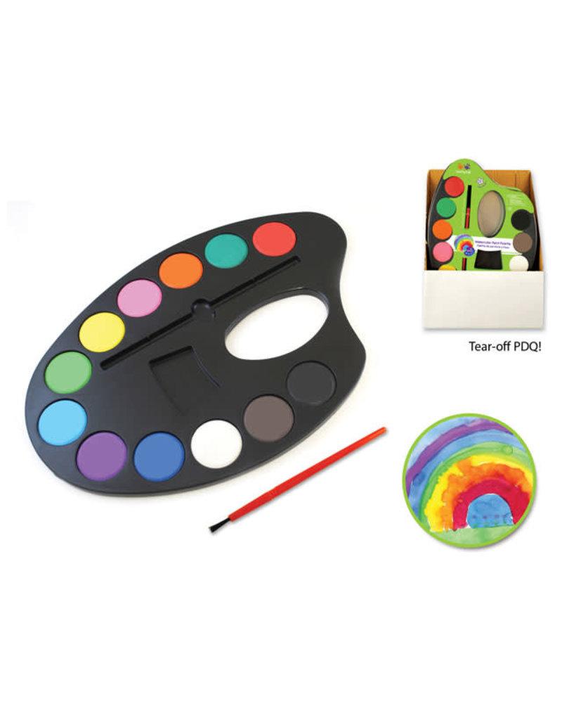 "Krafty Kids: 9.84""x6.65"" Lil' Artist Watercolor Palette 12 Color"