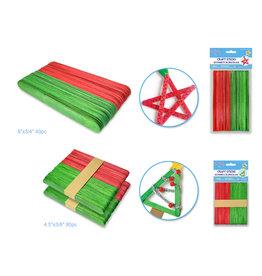 "Seasonal Wonders: Holiday Craft Sticks asst 2 styles 4.5""x3/8 & 6""x3/4"""