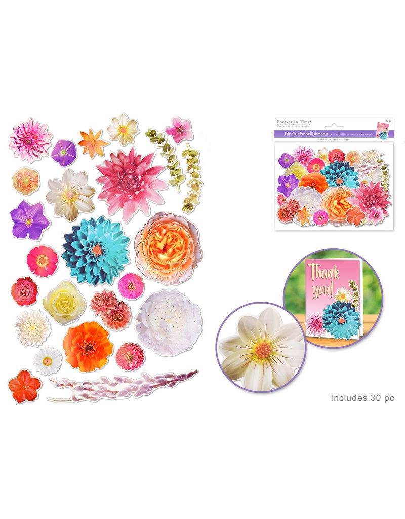 Paper Craft Emb: Die Cuts w/Foil Accents A) Floral