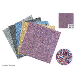 """Scrapbook Paper: 12""""x12"""" Tri-Glitter Cardstock 190gsm Asst 5col"""