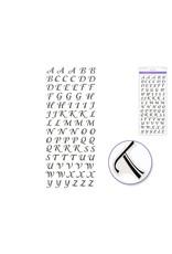 "Paper Craft Sticker: 5""x12"" Foil Fancy Everyday Themes Clear Photo Safe N) Black Script Alphabet"