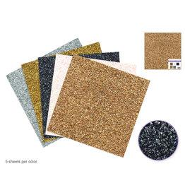"""Scrapbook Paper: 12""""x12"""" Glitter Grass Cardstock 190gsm Asst 5col"""
