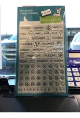Treasuremart Clear Stamp Set: Plan On It - Calendar