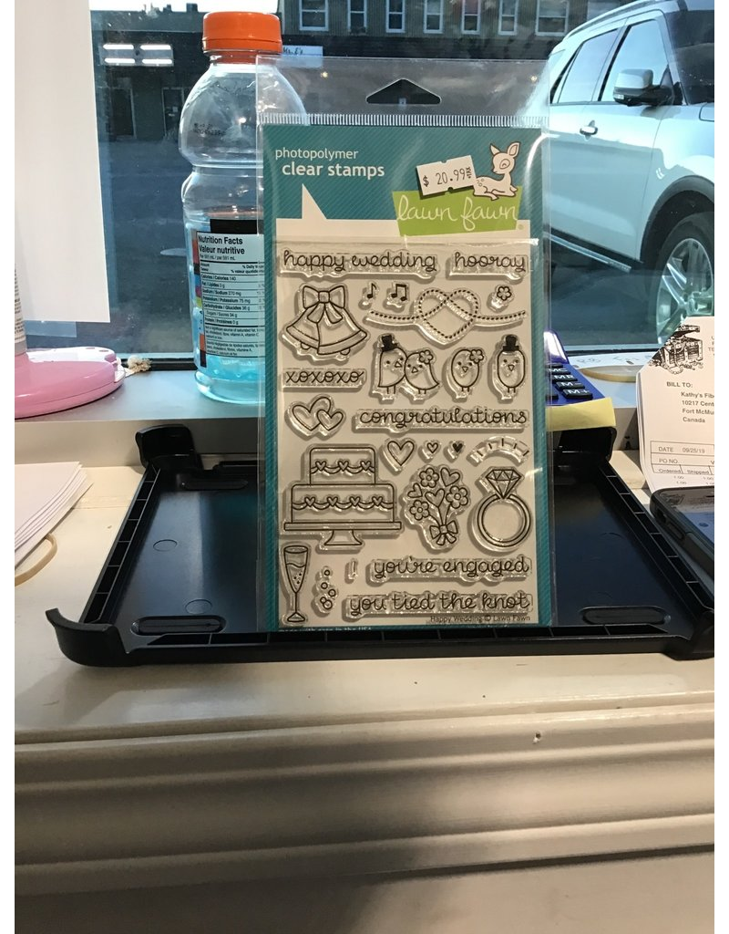 Treasuremart Clear Stamp Set: Happy Wedding