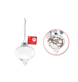 Seasonal Décor: 8cm DIY Plastic Onion Ornament w/Met Cap + Cord