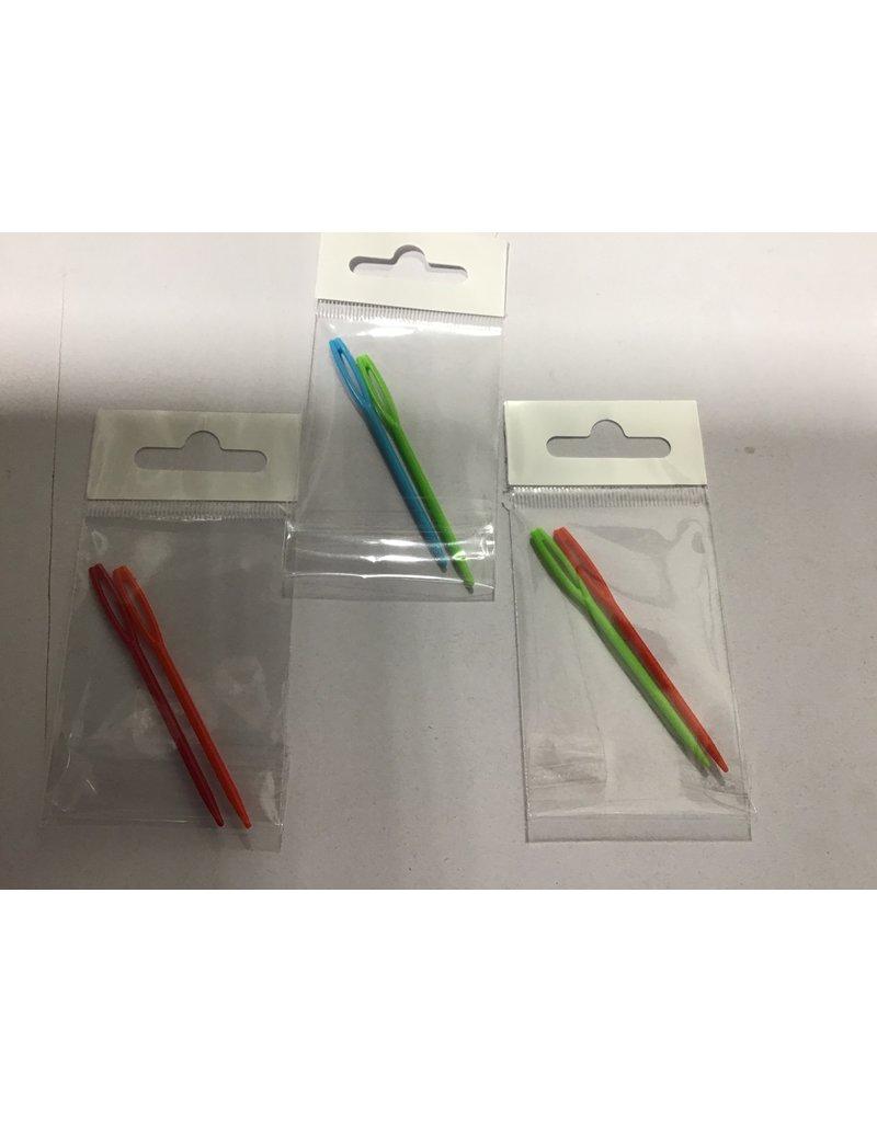 Large Eye Plastic Darning needle set of 2