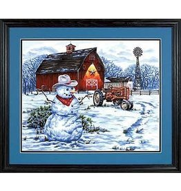 Dimensions Paintworks  16x20 Country Snowman