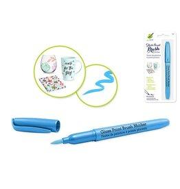 MultiCraft Light Blue Glass/Ceramic/Porcelain Paint  brush Marker Permanent 2ml