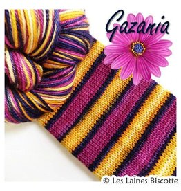 Biscotte Yarns Biscotte Yarns GRIFFON merino wool - Self-striping - Gazania