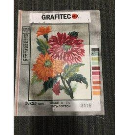 Grafitec Pink and Orange Flowers Tapestry 3.115
