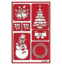 Over & Over Over & Over Stencil - Christmas