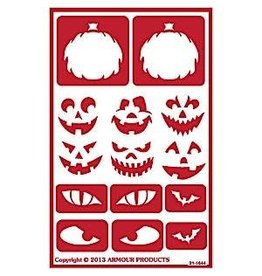 Over & Over Over & Over Stencil - Halloween Faces