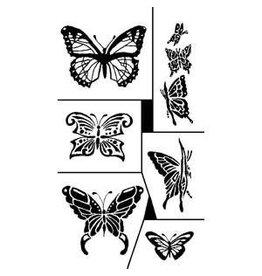 Rub N Etch Rub N Etch Stencils -Butterflies