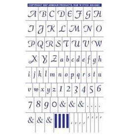 Rub N Etch Rub N Etch Stencils - Script Full Alphabet with numbers