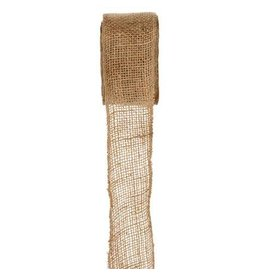 Darice Burlap Ribbon - Natural - Sewn Edge - 2.5 inches x 10 yards