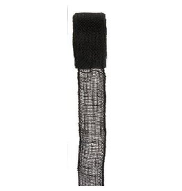 Darice Burlap Ribbon - Black - Sewn Edge - 2.5 inches x 10 yards