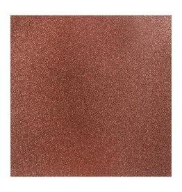 Darice Glitter Silk Collection Sheet -  bronzed - 12 x 12