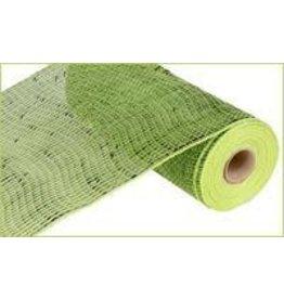 "Craig Bachman 10""X10yd Deluxe Wide Foil Mesh Apple Green W/Lime Foil"