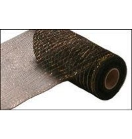 "Craig Bachman 10""X10yd Metallic Mesh Black W/Laser Gold Foil"