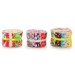 Darice Fabric Strips: Multi-Colored Patterns, 2.5 x 42 in