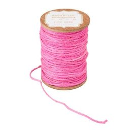 Darice Spool of Colored Jute Twine - Pink Cord - 200 feet