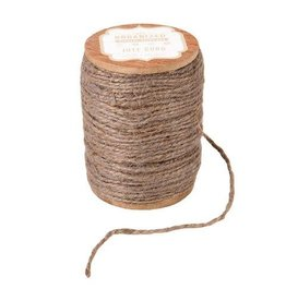 Darice Spool of Colored Jute Twine - Taupe Gray Cord - 200 feet