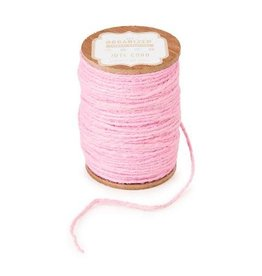Darice Spool of Colored Jute Twine - Light Pink Cord - 200 feet