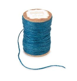 Darice Spool of Colored Jute Twine - Blue Cord - 200 feet