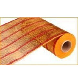 """Craig Bachman 10""""X10yd Deluxe Metallic Stripe Wide Gold/Thin Laser Red"""