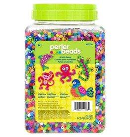Darice Perler Bead Jar - Assorted Colors - 22,000 Pieces