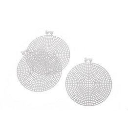 Darice PlasticCanvas Shape - Round - 4.5 inches - 10 pieces