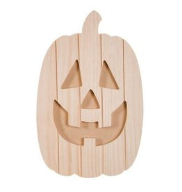 Darice Carved Pallet Jack-o'-Lantern - Unfinished - Wood - 14 x 9 x 0.05 in