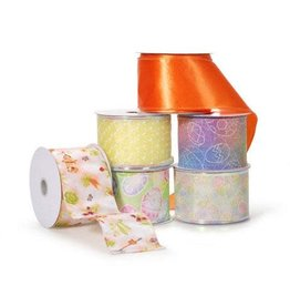 Darice Wire Edged Ribbon - Assorted Spring Styles - 2-1/2 inches x 10 yards