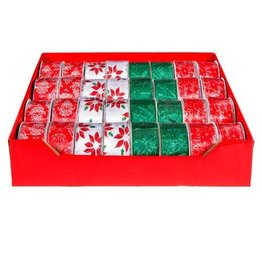Darice Merry Christmas Ribbon Assorted: 2.5 inches x 25 feet