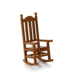 Darice Miniatures - Wood Rocking Chair - 1.5 x 3.75 inches - 1 piece