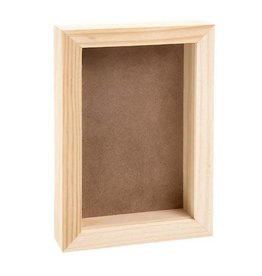 "Darice Pine Wood CollectionShadow Box with Clear Acrylic Front 9"" x 6"""