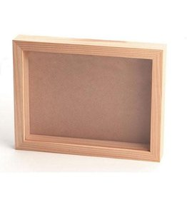 Darice Pine Wood CollectionShadow Box with Clear Acrylic Front - 8 x 11 inches