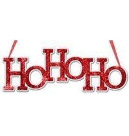 """Craig Bachman 14.5""""L """"Ho Ho Ho"""" Word Sign"""