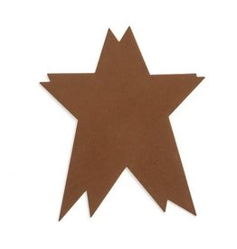 Darice Tin Folk Star - Couple Star Shape -  brown - 2.5 x 3 inches - 4 pieces