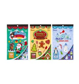Darice Christmas Sticker Books for Kids with 200+Stickers - 3 Assorted Styles
