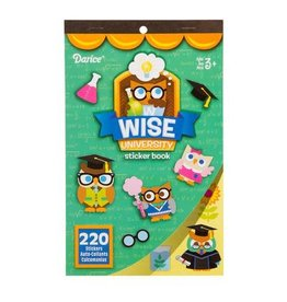 Darice Sticker Book for Kids - Wise University - 220Stickers