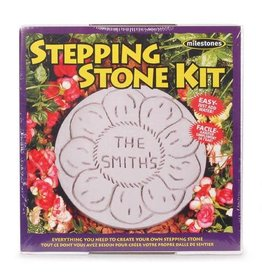 Darice Milestones Stepping Stone Kit - With Plastic Mold and Wooden Paddle - Round