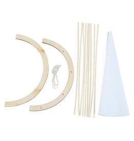 Darice Wood Model Kit - Teepee - 7.75 x 8.75 inches