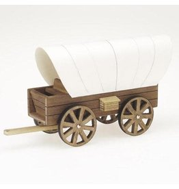 Darice Wood Model Kit - Covered Wagon - 8.5 x 4.5 inches