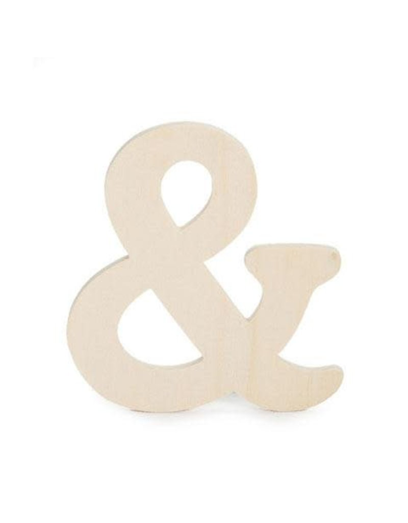 Darice Wood Cutout - Ampersand Symbol - 4 25 inches x 5mm