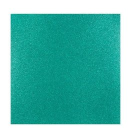 Darice Glitter Silk Collection Sheet - Jaded - 12 x 12