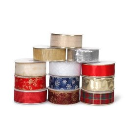 Darice Wired Ribbon - Christmas Assortment - 2.5 in x 40 yards