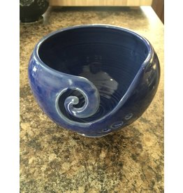 Pottery By Heather Yarn Bowl Blue