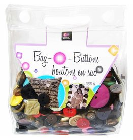 Hakidd CRAFTING ESSENTIALS Snap Bag O' Buttons - Mixed - 300 g (10 oz)