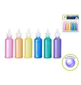 Multi Craft Fabric Paint: 22ml E-Z Squeezers x6 Value-Pack (132ml total)